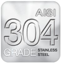 Only Aisi 304 Grade Steel